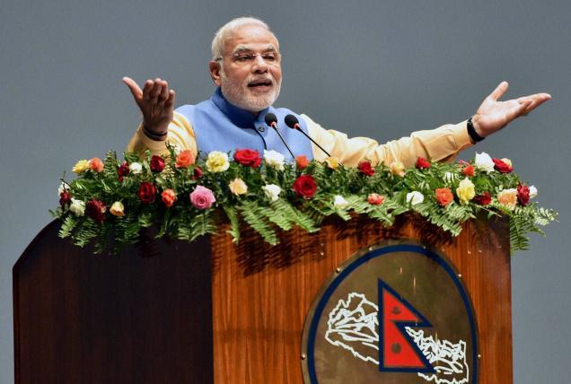 莫迪在尼泊爾國會發表演說 (Source-The Hindu)