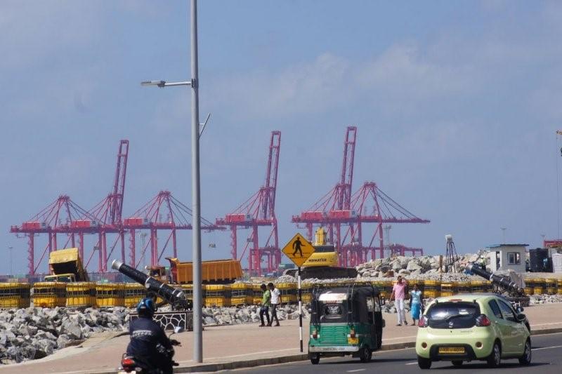 中國在可倫坡港的工程