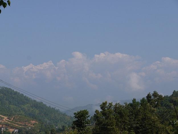 路途中拍攝的喜馬拉雅山