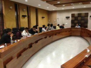 交流團與古吉拉特省長Anandiben Patel意見交換