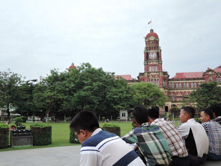 仰光原最高法院大樓/攝於獨立紀念碑公園
