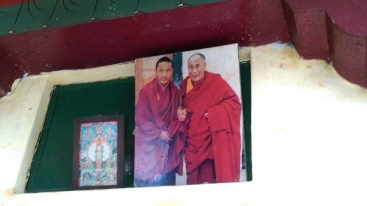 圖說:達賴喇嘛與大寶法王的掛照