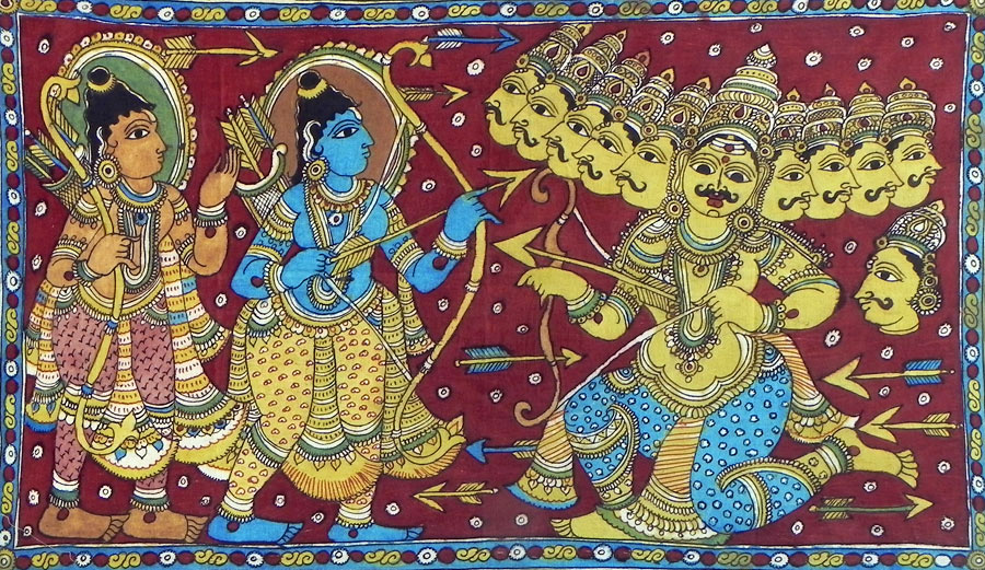 羅摩與羅凡納, 印度傳統繪畫, 圖片來源Dolls of India.jpg