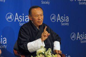 ↑ 不丹繁榮進步黨黨魁─吉美.廷里(Jigme Thinley)