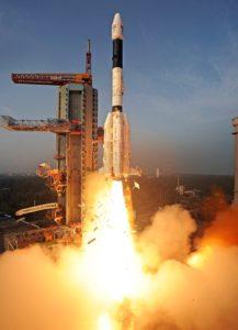 GSLV-D5火箭從印度東部安德拉邦斯里赫里戈達島的達萬太空中心第二發射台發射,搭載印度GSAT-14通訊衛星。