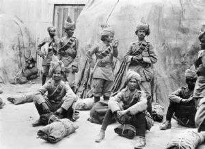 (圖:一戰時的印度士兵)