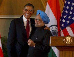 2010年11月8日,美國總統歐巴馬與印度總理辛赫在新德里的聯合記者招待會[vi]。