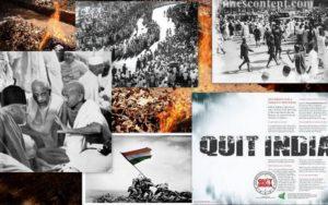 (圖為1942年「撤離印度運動」歷史照片圖輯)