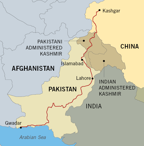 China_Pakistan_Map