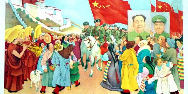 Proganda-China-Art-Poster-The-Tibetan-people-welcome-the-Peoples-Liberation-Army-800x400
