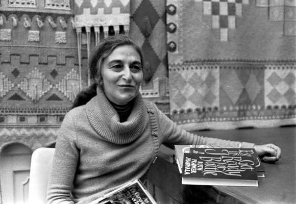 Ruth Prawer Jhabvala won the Neil Gunn International Fellowship in April 1979 - Ms Jhabvala with her book Get Ready For Battle.